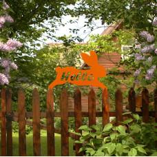 Садовый декор «Кролик HELLO» оранжевый